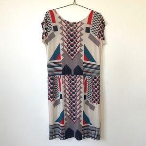 MARC BY MARC JACOBS Dress Cream-Red-Blue Medium